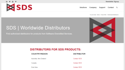 About SDS Distributors page