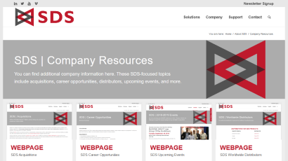 Company Resources page