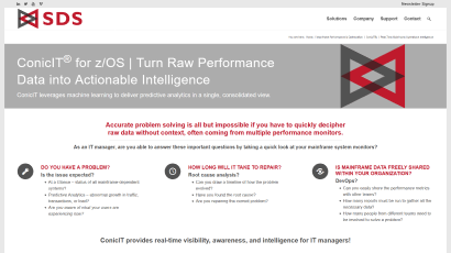 ConicIT real-time mainframe operations intelligence page