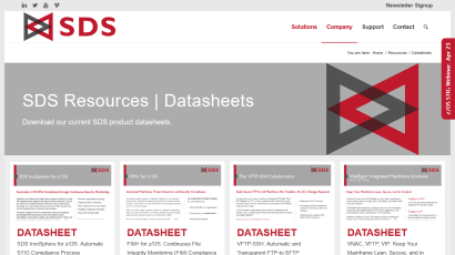 Datasheets page