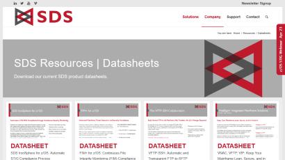 Datasheets page