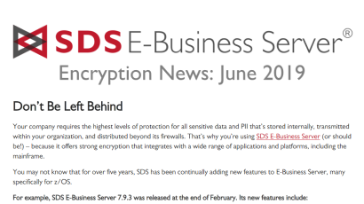 E-Business Server - June Encryption Newsletter