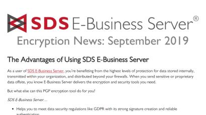 E-Business Server Encryption News: Sep 2019
