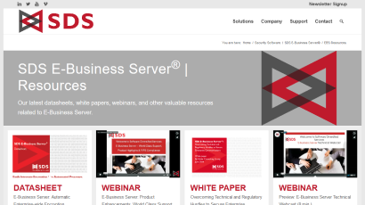 E-Business Server Resources page