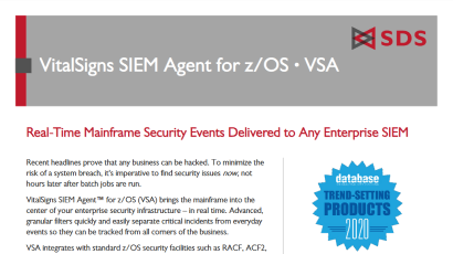 VitalSigns SIEM Agent for z/OS Datasheet