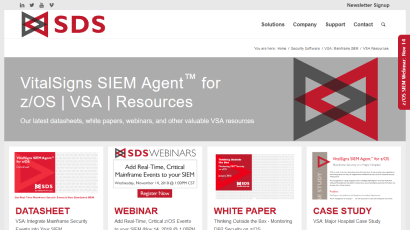 VitalSigns SIEM Agent for z/OS Resources page
