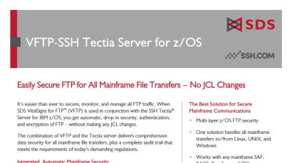 VFTP-SSH Datasheet
