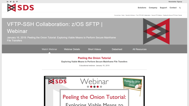 Peeling the Onion Tutorial webinar - January 2019