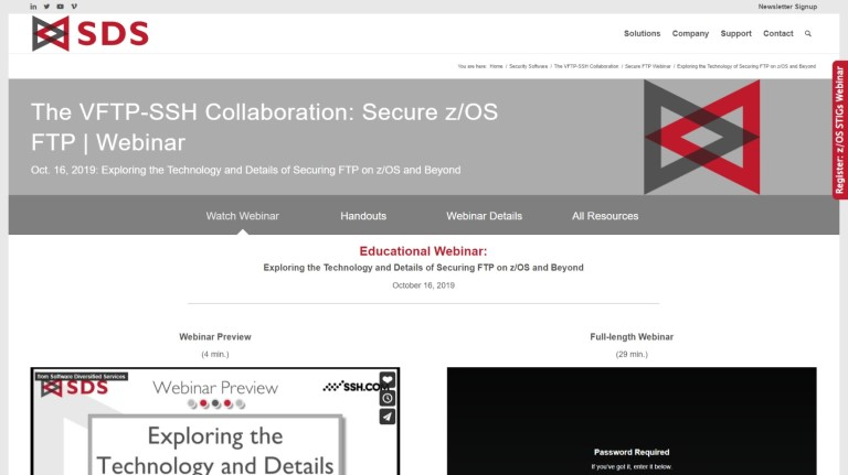 VFTP-SSH webinar - Oct 2019