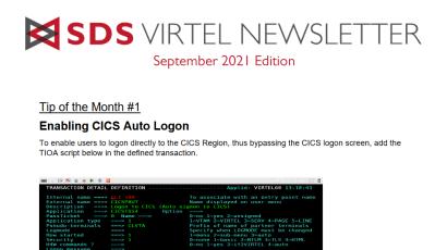 Virtel newsletter - September 2021