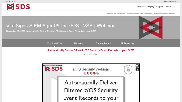 VSA Webinar page - Nov 2020