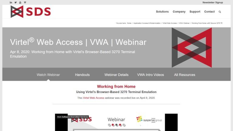 VWA webinar page - Apr 2020