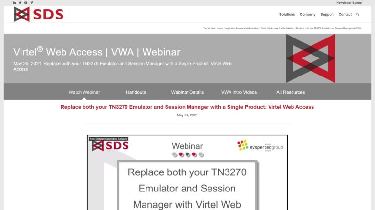 VWA webinar page - May 26, 2021