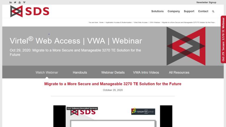 VWA Webinar page - Oct 29,2020