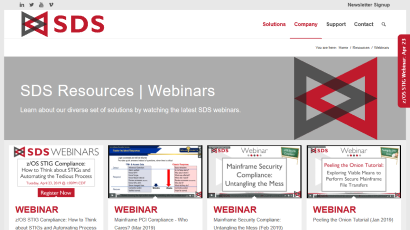 All SDS Webinars