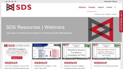 All SDS Webinars